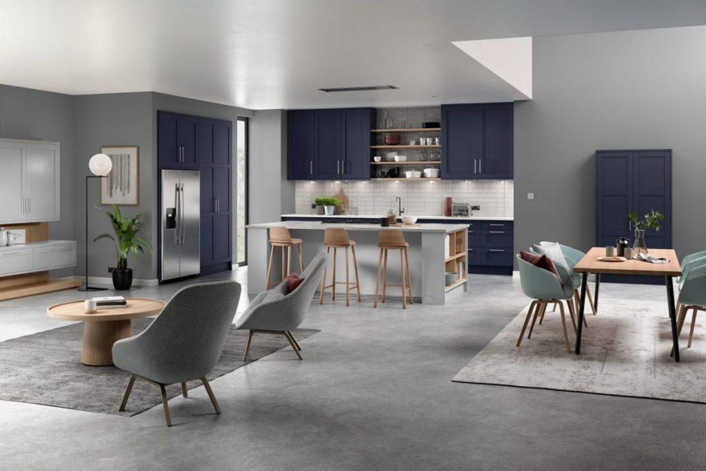 Kitchen_Loxley_Marine Blue_Light Grey